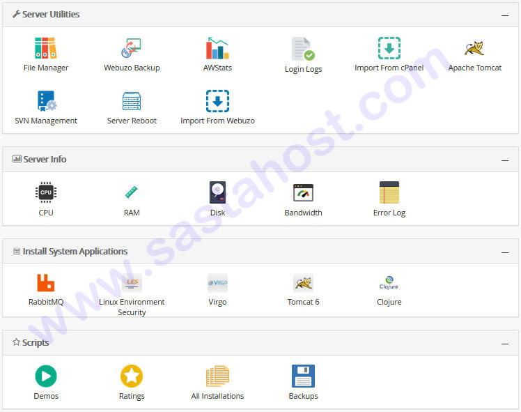webuzo features
